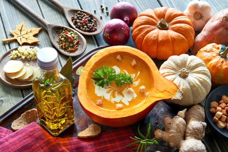 Squash soup and healthy fall foods