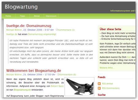 Blogwartung