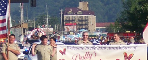 Dolly Parade homecoming parade