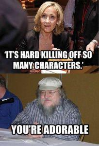 JK Rowling e George RR Martin