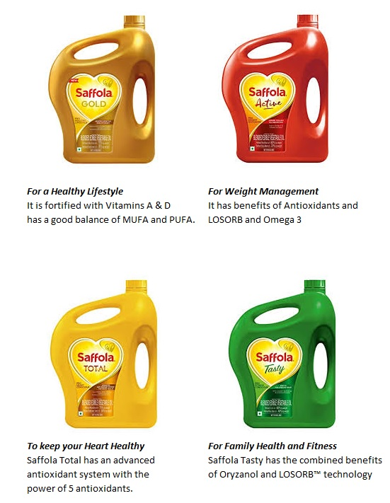 saffola brand by marico hold number 1 position in India in premium refined oils category