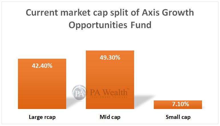 axis growth opportunities fund market cap wise bifurcation
