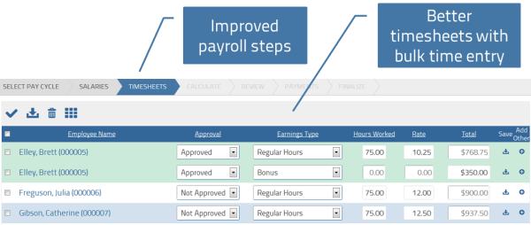 Improved steps for processing payroll