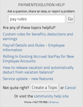 Search for payroll help