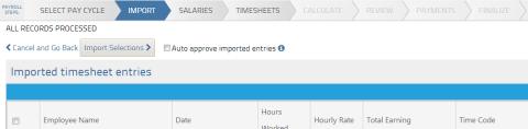 CSV file import