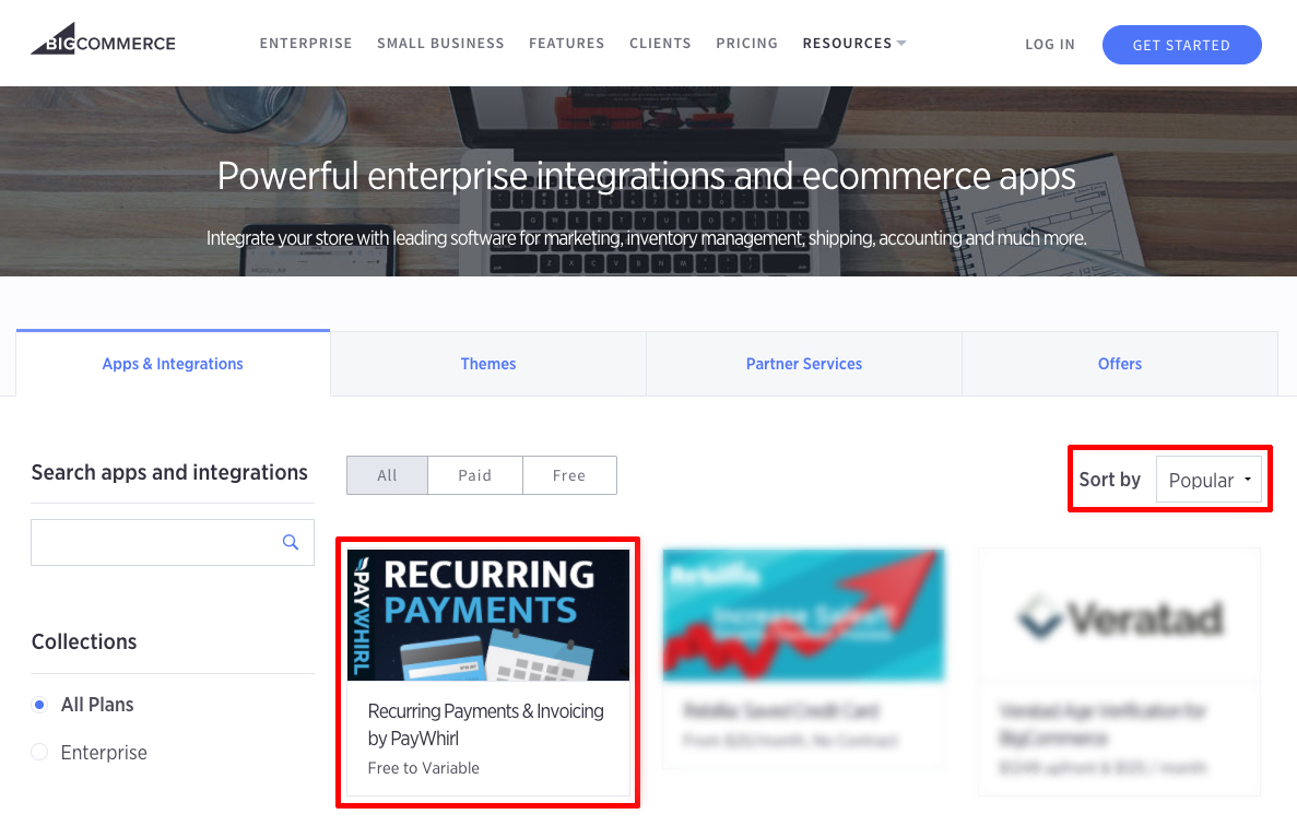 PayWhirl + BigCommerce App & Integration