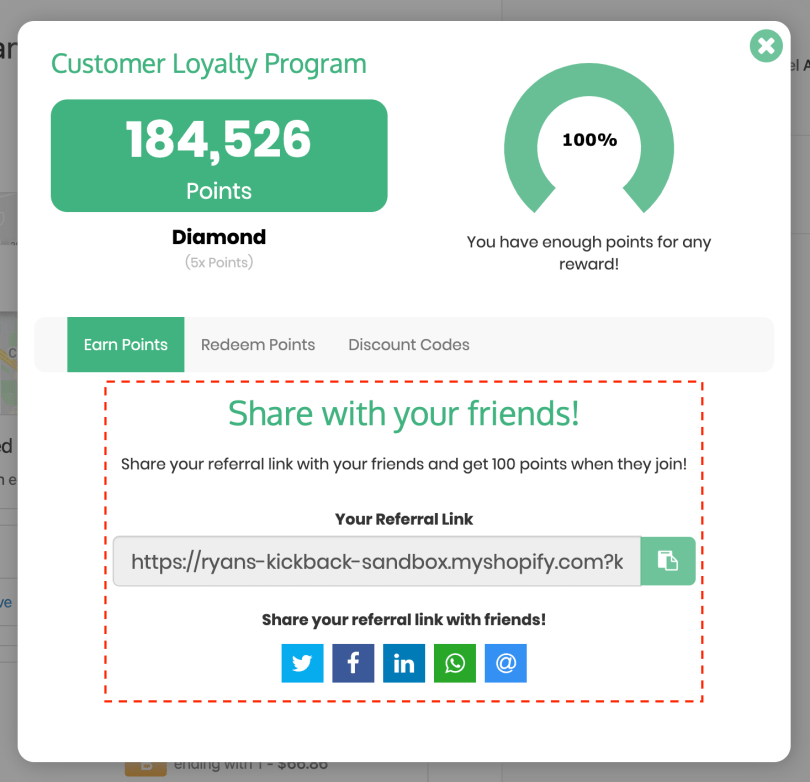 referral and rewards program for shopify