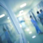 Hospital Corridor Blurry Medical Staff_363281516