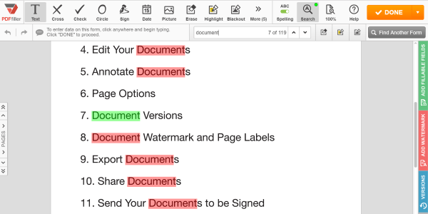 X PDFfiller, PDF search tool, PDFfiller search tool, search within PDF document, edit a PDF document, edit a PDF online