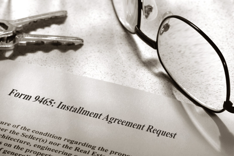 form 9465: Installment Agreement Request