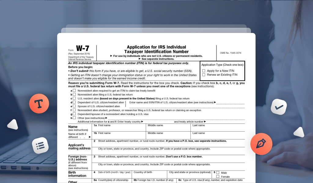 Renew Your Itin With Irs Form W 7 And Avoid Refund Delays