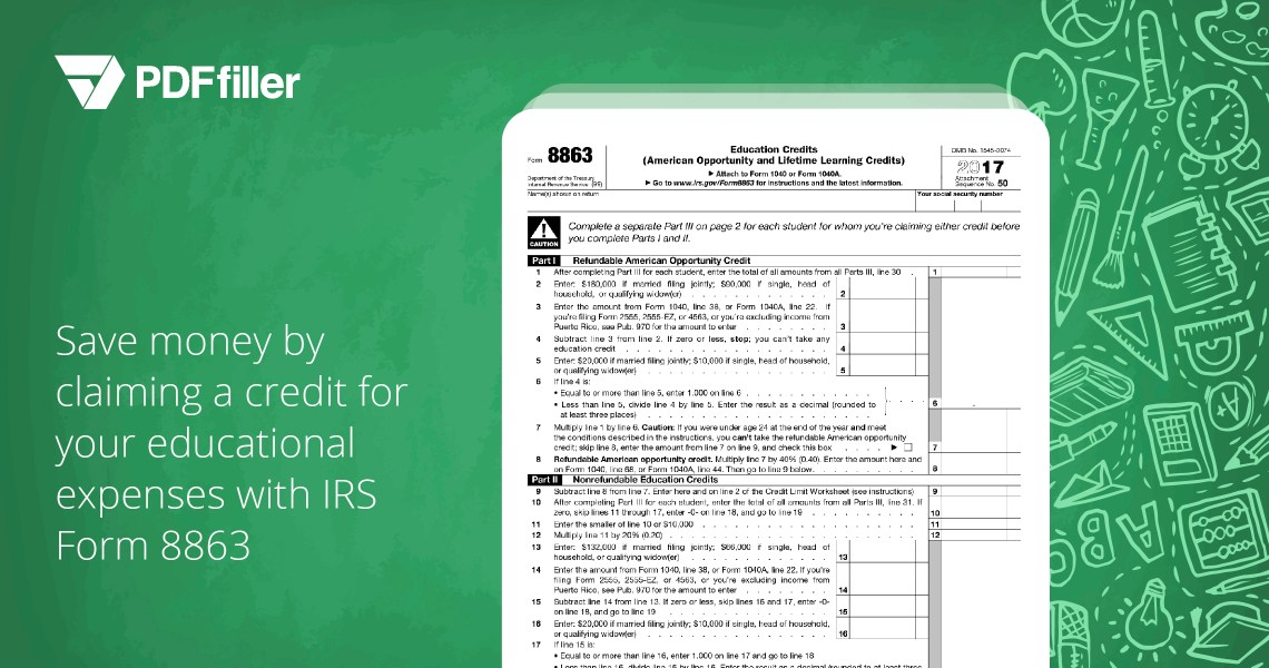 easily cover your educational expenses by filing irs form 8863