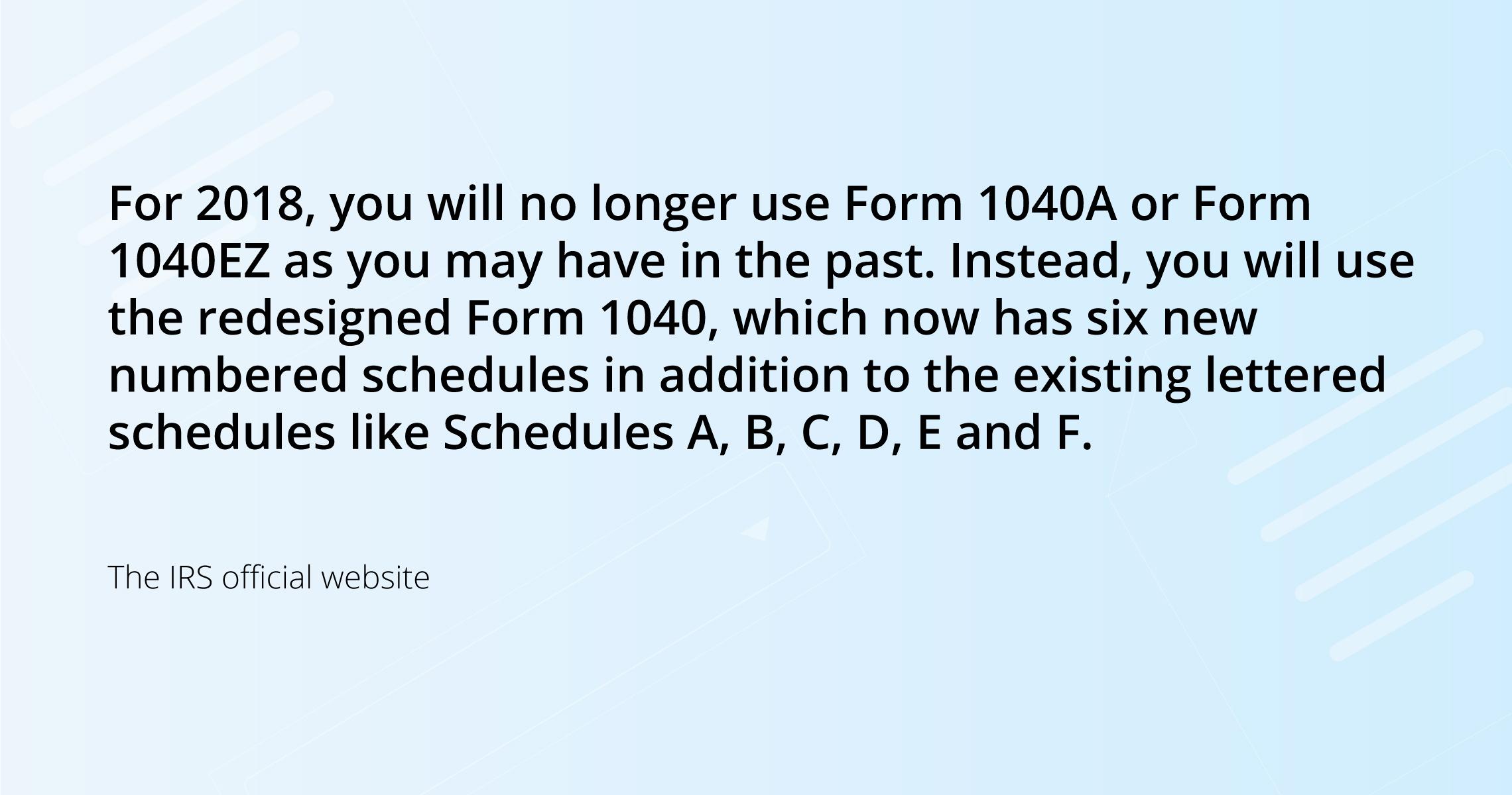 new 1040