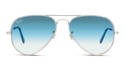 Ray-Ban met blauwe, degradé glazen