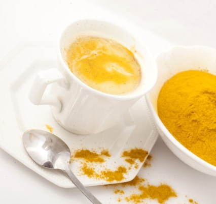 Golden Milk made with Turmeric, milk and honey.