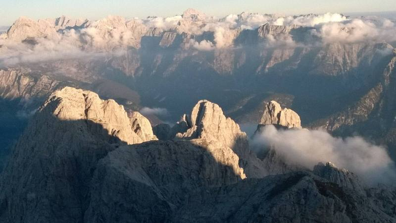 Sunrise in the Julian Alps. Photo: Dr Pier Luigi Nimis