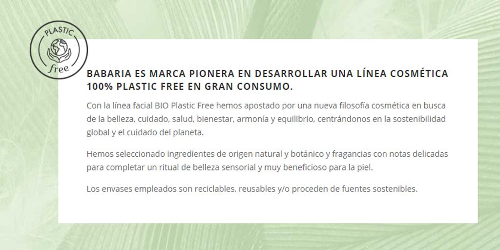Plastic Free de Babaria. Sorteo