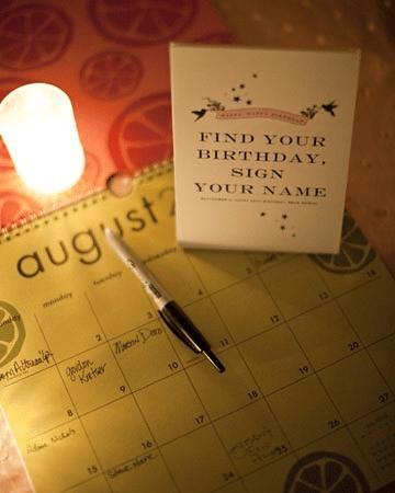 wedding calendar guest book idea