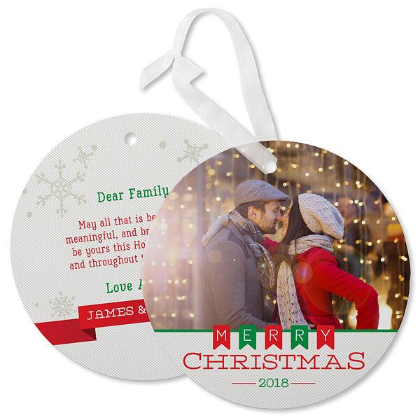 Photo Ornament Christmas Card