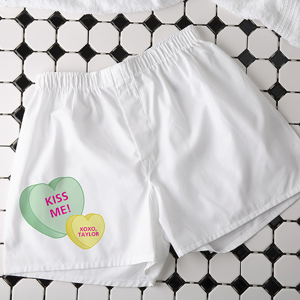 Custom Conversation Hearts Boxers