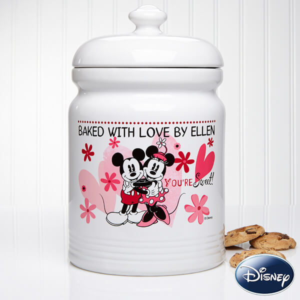 Personalized Mickey & Minnie Mouse Cookie Jar