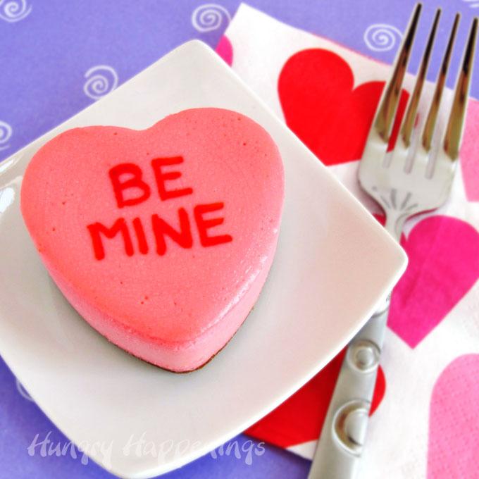 Conversation Heart Cheesecake