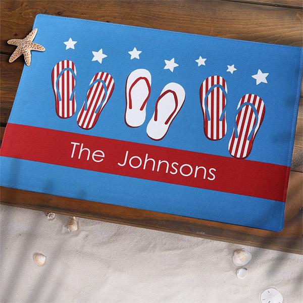 American Flag Doormat