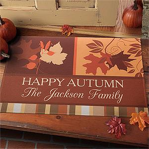 Custom Fall Doormat