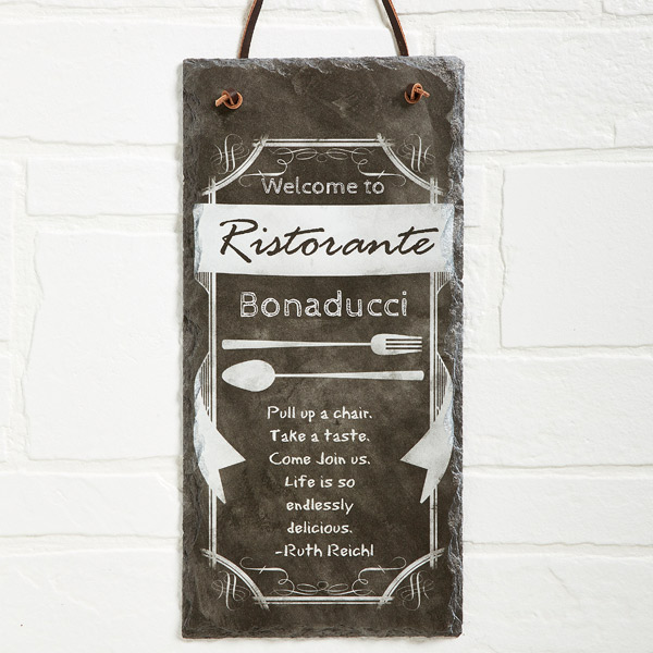 Custom Kitchen Slate Plaque