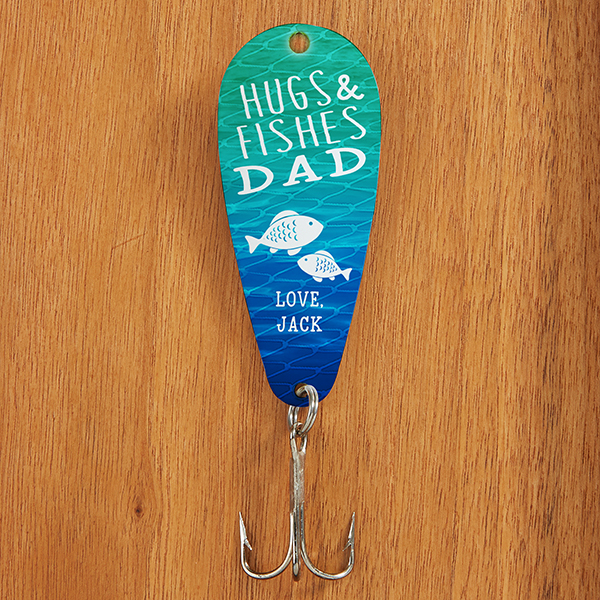 custom fishing lure for dad