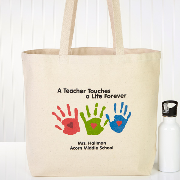 Touches A Life Personalized Teacher Tote Bag