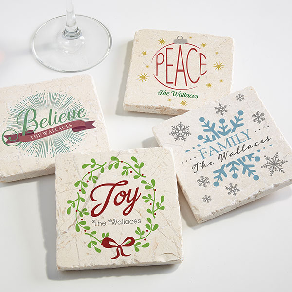 Custom Holiday Party Coasters