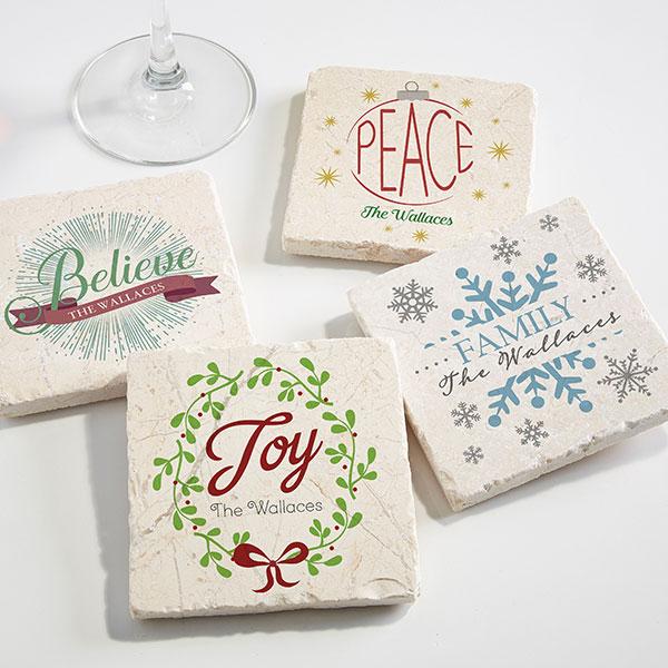 Custom Holiday Party Coasters