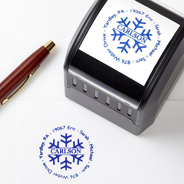 Holiday Address Stamp