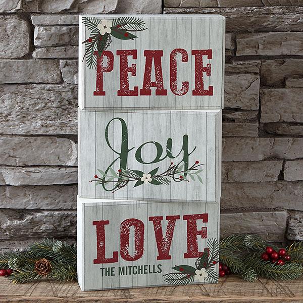 Peace Love Joy custom art
