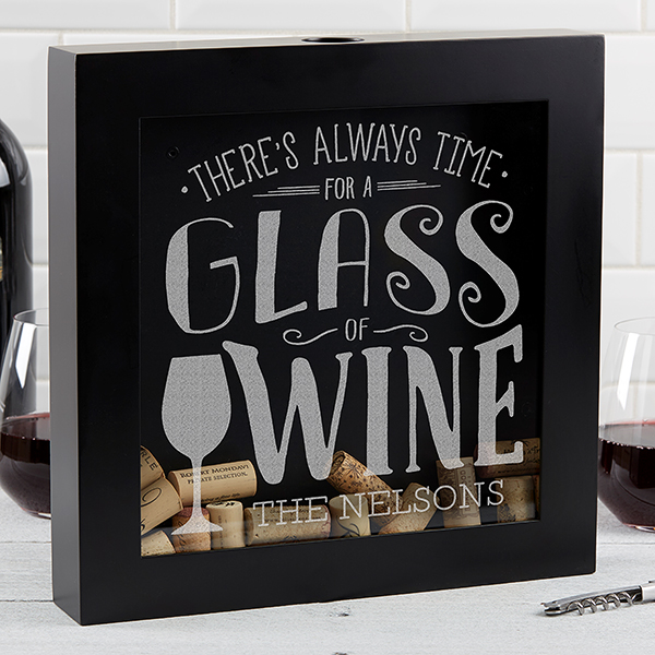 Wine Cork Shadow Box