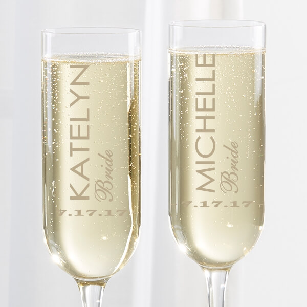 Champagne Glasses Wedding Gift