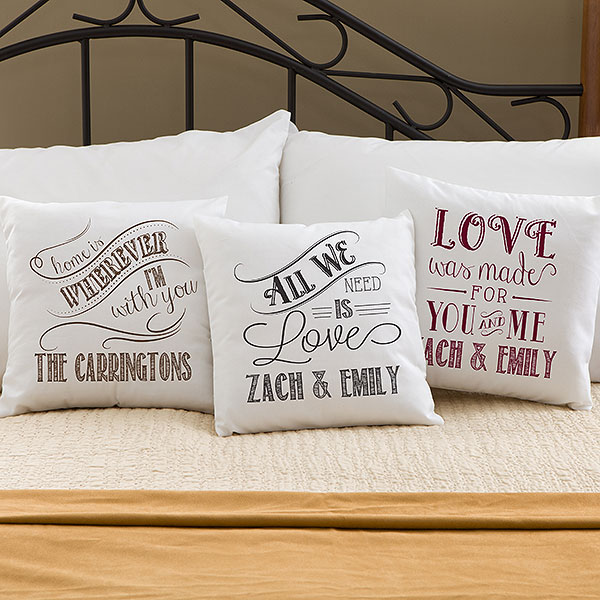 Personalized Romantic Pillows