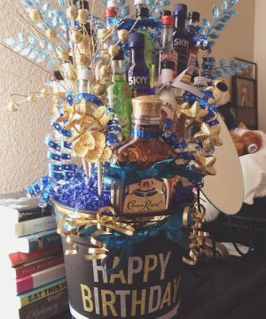 21st birthday booze cake