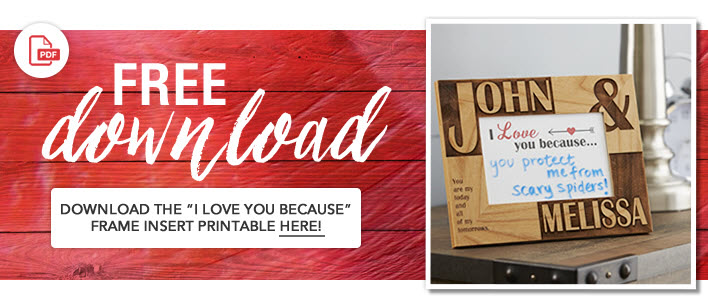 "Download Free Printable ""I Love You Because"""
