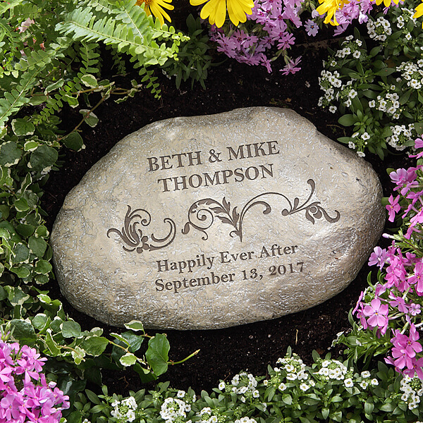 Engraved Garden Stone Wedding Gift