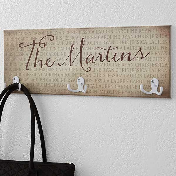 Together Forever Personalized Coat Rack