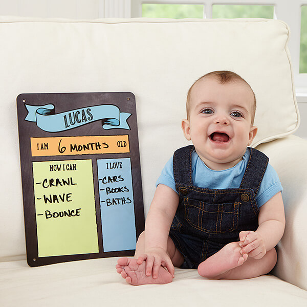 My Baby Month By Month Personalized Dry Erase Sign