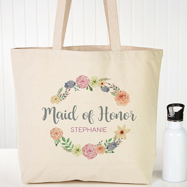Personalized Bridesmaid Tote Bags