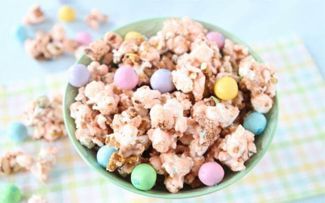 Salted Caramel Easter Popcorn
