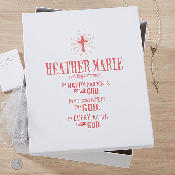 First Communion Memory Keepsake Box