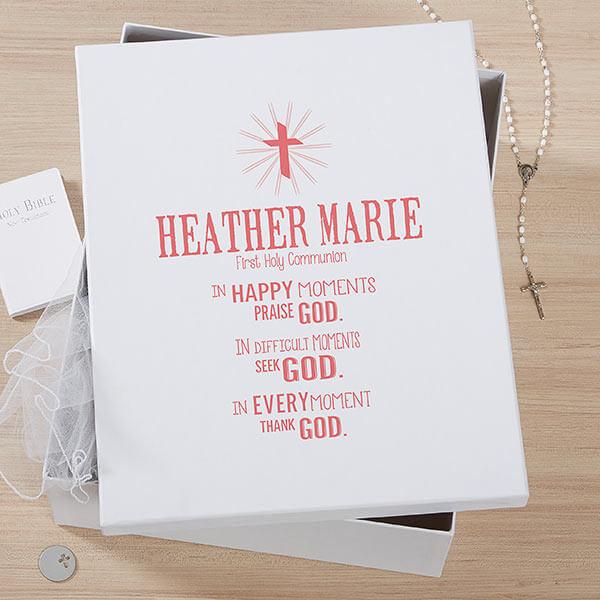 First Communion Memory Keepsake Box