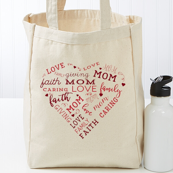 Personalized Canvas Tote for Mom