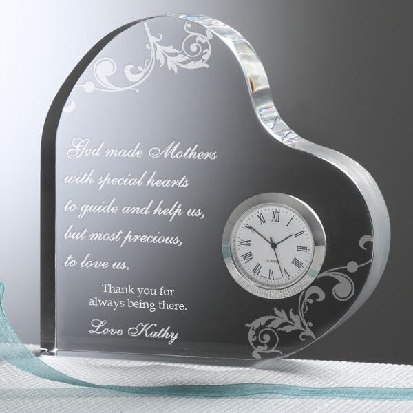 Dear Mom Personalized Heart Clock