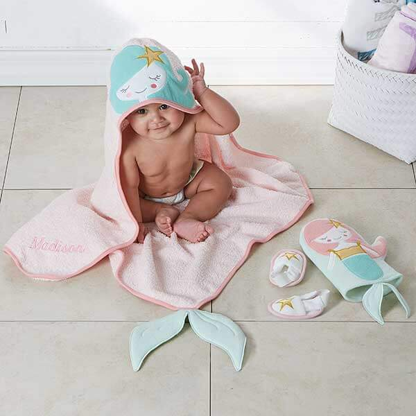 Personalized Hooded Towels for Babies
